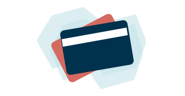 Drawing of a credit card